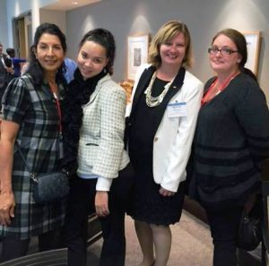 I was pleased to join Cynthia Arredondo, advisor, left; and students Dorisa Johnson and Anastacia Novosielski