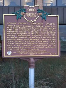 Ohio Historical Marker located near College Center.