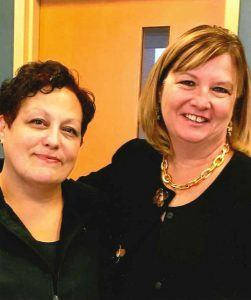 A photo of Patty Rone and LCCC President Marcia Ballinger.