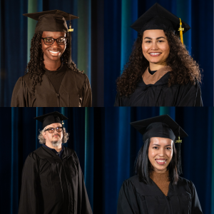 Clockwise from top left: Akua Agyemang, Sienna Wright, Lyn Bruno and Gregory Stocker